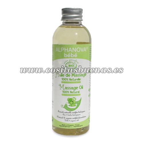 aceite de masaje ecologico de bebe