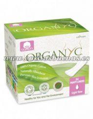 salvaslip en bolsitas individuales 100% algodón orgánico ORGANYC