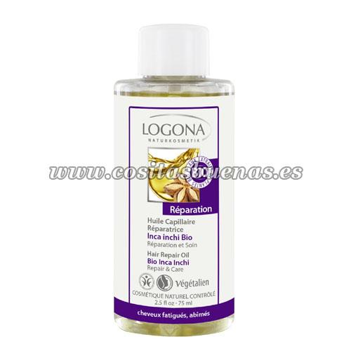Aceite capilar reparador con Inca Inchi Bio LOGONA