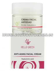 Crema facial ecológica antiedad HELLO GREEN