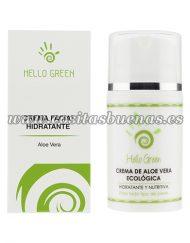 Crema facial ecológica de Aloe vera HELLO GREEN