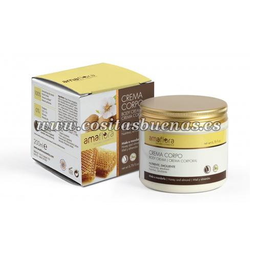Crema corporal Bio de Miel y Almendras AMAFLORA