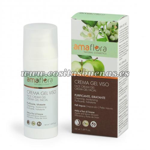 Gel crema facial Bio de Manzana y Flores de Limón AMAFLORA