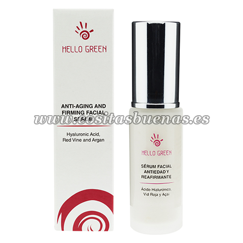 Sérum facial antiedad con ácido hialurónico HELLO GREEN