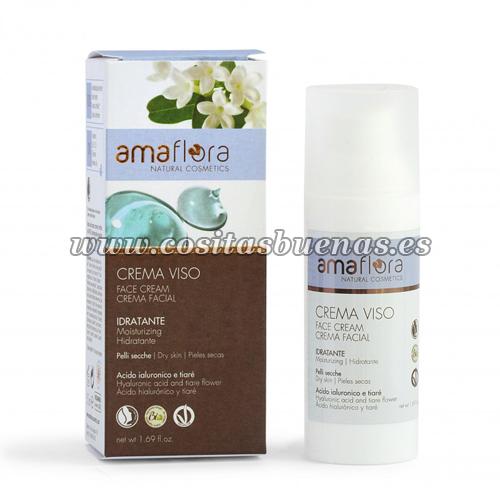 Crema facial de Ácido hialurónico y Tiaré Bio AMAFLORA