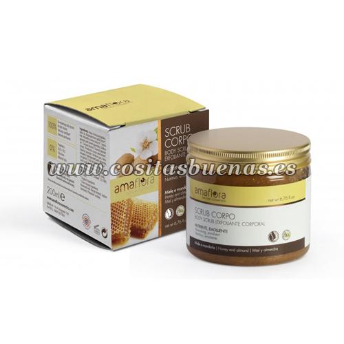 Exfoliante corporal de Miel y Almendras Bio AMAFLORA