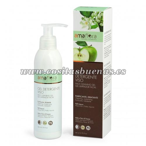 Gel limpiador facial Bio de Manzana y Flores de Limón AMAFLORA