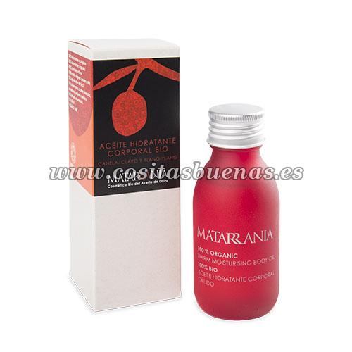 aceite corporal hidratante cálido bio