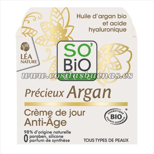 crema de dia antiedad ecologica precieux argan