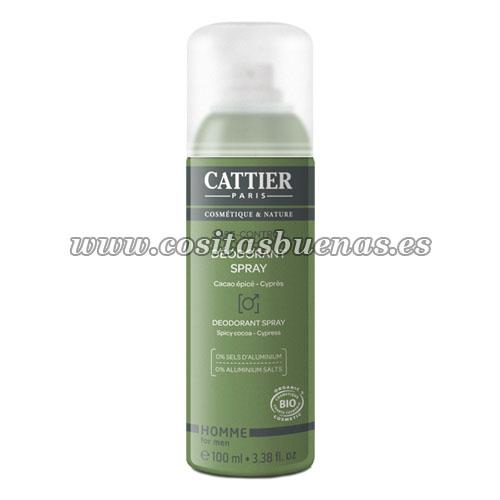 Desodorante spray Bio para hombre Safe Control CATTIER Homme