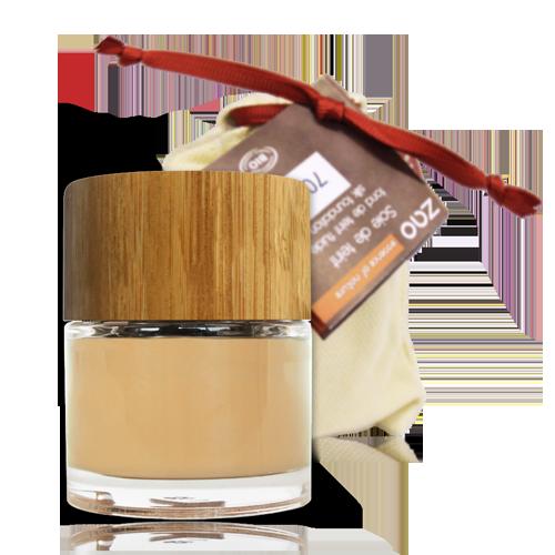 maquillaje fluido ecologico 701 tarro y bolsa
