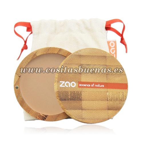 Polvo compacto ecológico 302 Beige Orangé ZAO