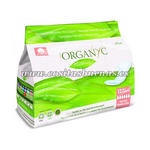 Compresas postparto primeros días 100% algodón orgánico ORGANYC