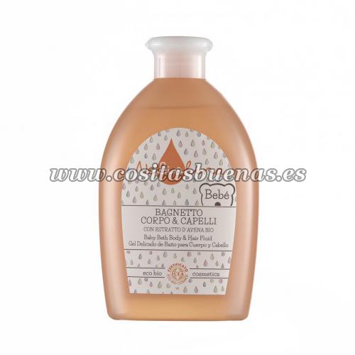 Gel delicado de baño ecológico para cuerpo y cabello NEBIOLINA