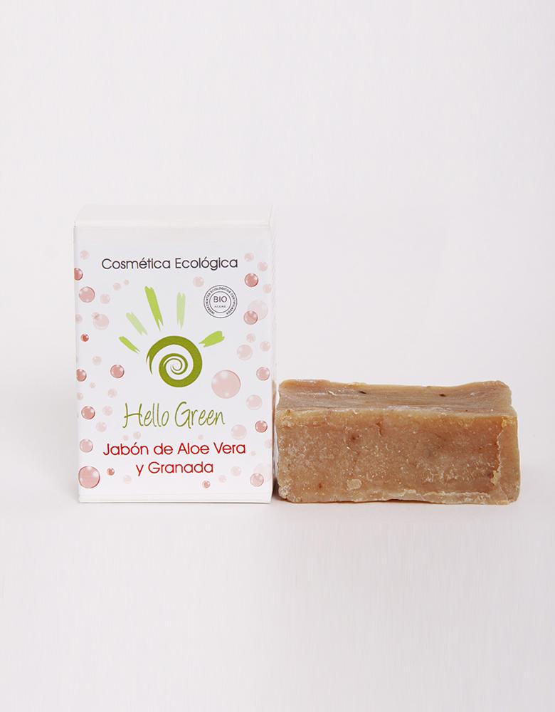 Jabón ecológico de Aloe vera y Granada HELLO GREEN