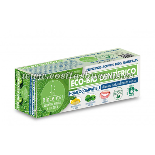 Dentífrico ecológico homeocompatible BIOCENTER